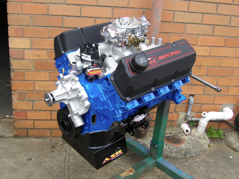 Ford Cleveland 351 Stage 2 Engine with Accessories Fitted.
