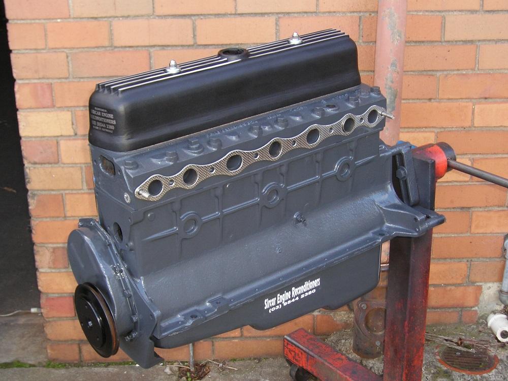Holden 138 Sports Engine including Mild Cam, Performance Valve Springs, Oversize Valves, Balanced and Improved Compression Ratio.