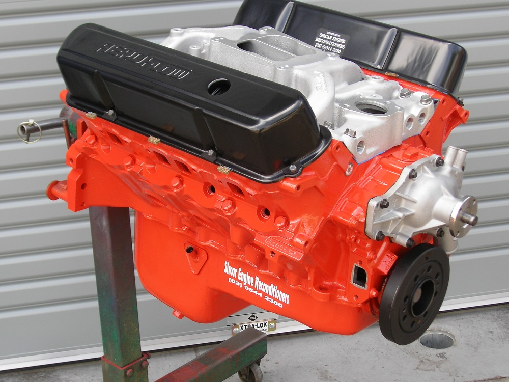 Holden 308 Stage 2 Engine with Heads Converted for ULP and has the Inlet Manifold, Water Pump and Harmonic Balancer Fitted. To be fitted to a 4WD.
