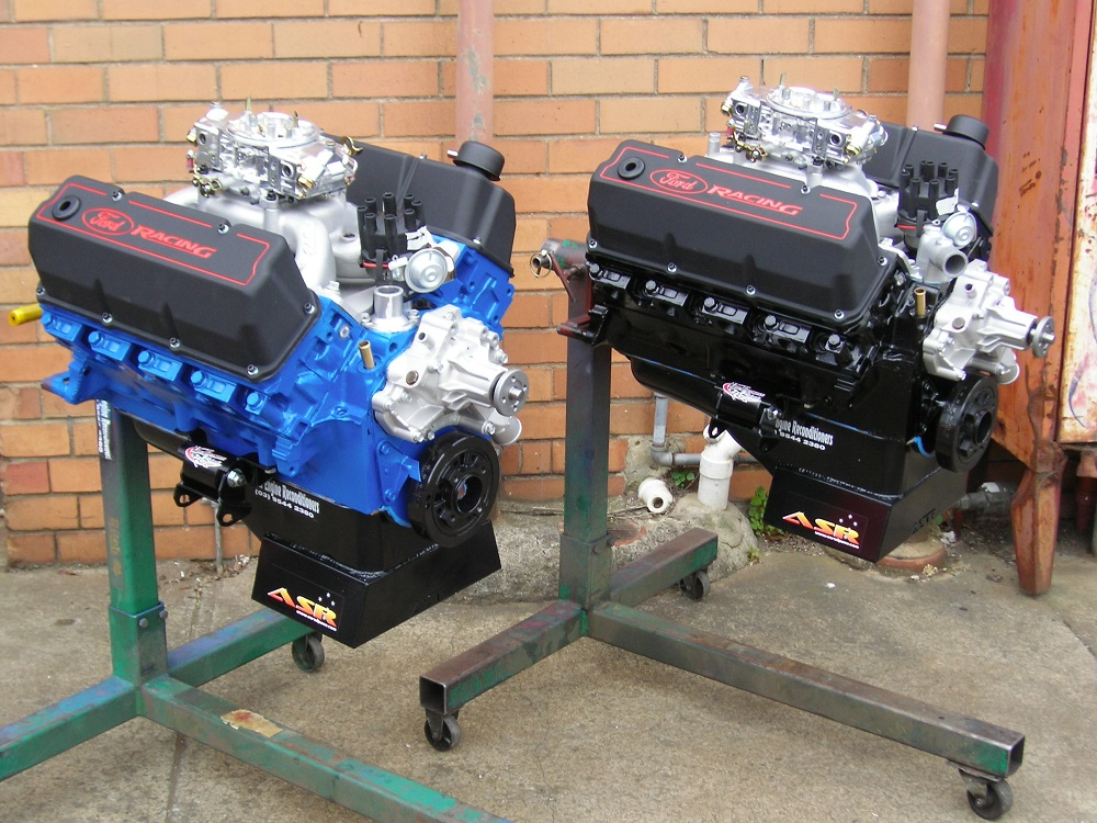 Pair of Performance Ford 351 Cleveland Engines. Built as a his and her's pair.